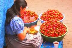 Venditrice di fragole